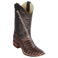 Men's Los Altos Genuine Caiman Belly Leather Boots Handcrafted 8228266