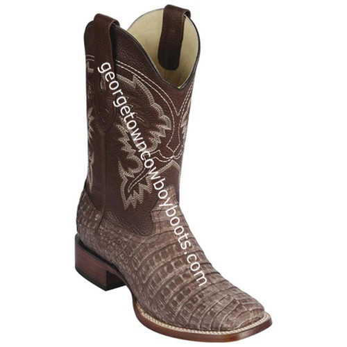 Men's Los Altos Genuine Caiman Belly Leather Boots Handcrafted 8228234