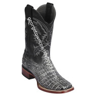 Men's Los Altos Genuine Caiman Belly Leather Boots Handcrafted 8228281