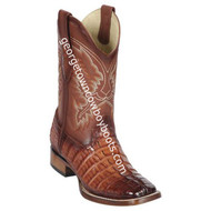 Men's Los Altos Genuine Caiman Tail Leather Boots Handcrafted 8220157