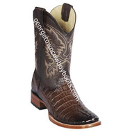 Men's Los Altos Genuine Caiman Tail Leather Boots Handcrafted 8220116