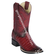 Men's Los Altos Genuine Caiman Tail Leather Boots Handcrafted 8220143