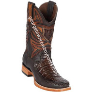 Men's Los Altos Genuine Caiman Belly And Deer Leather Boots Handcrafted 82F8216