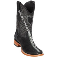 Men's Los Altos Genuine Stingray & Deer Rowstone Leather Boots Handcrafted 82F1105