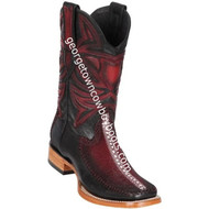 Men's Los Altos Genuine Stingray & Deer Rowstone Leather Boots Handcrafted 82F1143