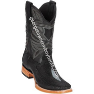 Men's Los Altos Genuine Stingray & Deer Rowstone Leather Boots Handcrafted 82F1205