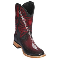 Men's Los Altos Genuine Stingray & Deer Rowstone Leather Boots Handcrafted 82F1243
