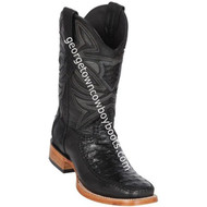 Men's Los Altos Genuine Ostrich & Deer Skin Leather Boots Handcrafted 82F0305