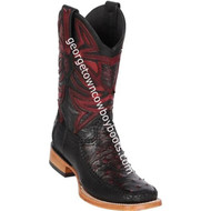 Men's Los Altos Genuine Ostrich & Deer Skin Leather Boots Handcrafted 82F0318