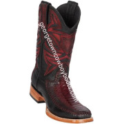 Men's Los Altos Genuine Ostrich & Deer Leg Skin Leather Boots Handcrafted 82F0543