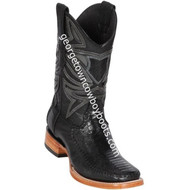 Men's Los Altos Genuine Ostrich & Deer Leg Skin Leather Boots Handcrafted 82F0505