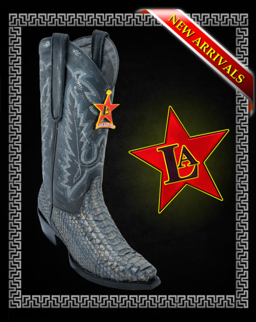 Silver / Gold Metal Genuine Python Western Boots Los Altos Boots Style :345779