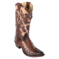 Men's Los Altos Genuine Full Quill Ostrich Boots Handcrafted 94R0318