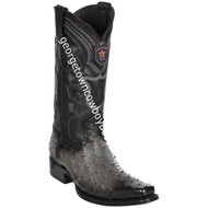 Men's Los Altos Full Quill Ostrich Boots European Square Toe Handcrafted 760338
