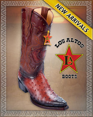 Full Quill Ostrich Western Cowboy Boots Faded Cognac color 94F0357