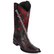 Men's Los Altos Smooth Ostrich Boots European Square Toe Handcrafted 769718