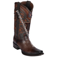 Men's Los Altos Smooth Ostrich Boots European Square Toe Handcrafted 769716