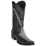 Men's Los Altos Caiman Belly With Deer European Square Toe Boots Handcrafted 76F8238