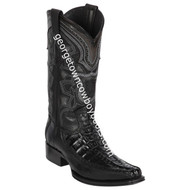 Men's Los Altos Caiman Tail & Deer European Square Toe Boots Handcrafted 76F0105