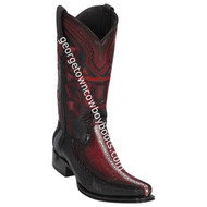 Men's Los Altos Row Stone Stingray With Deer European Square Toe Boots Handcrafted 76F1143