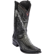 Men's Los Altos Full Quill Ostrich Boots With Deer European Square Toe Handcrafted 76F0338
