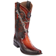 Men's Los Altos Full Quill Ostrich Boots With Deer European Square Toe Handcrafted 76F0357