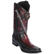 Men's Los Altos Ostrich Leg Boots With Deer European Square Toe Handcrafted 76F0543