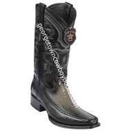 Men's Los Altos Ostrich Leg Boots With Deer European Square Toe Handcrafted 76F0538