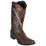 Men's Los Altos Python With Deer European Square Toe Boots Handcrafted 76FN5707