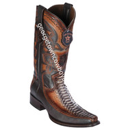 Men's Los Altos Python With Deer European Square Toe Boots Handcrafted 76F5788