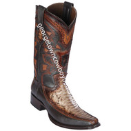 Men's Los Altos Python With Deer European Square Toe Boots Handcrafted 76F5785