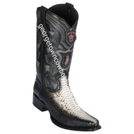 Men's Los Altos Python With Deer European Square Toe Boots Handcrafted 76F5749