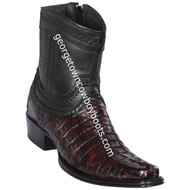 Men's Los Altos Caiman Tail Boots European Square Toe Boots Handcrafted 76B0118