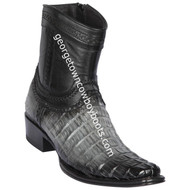 Men's Los Altos Caiman Tail Boots European Square Toe Boots Handcrafted 76B0138
