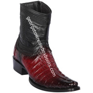 Men's Los Altos Caiman Tail Boots European Square Toe Boots Handcrafted 76B0143