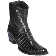Men's Los Altos Caiman Tail Boots European Square Toe Boots Handcrafted 76B0105