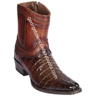 Men's Los Altos Caiman Tail Boots European Square Toe Boots Handcrafted 76B0116