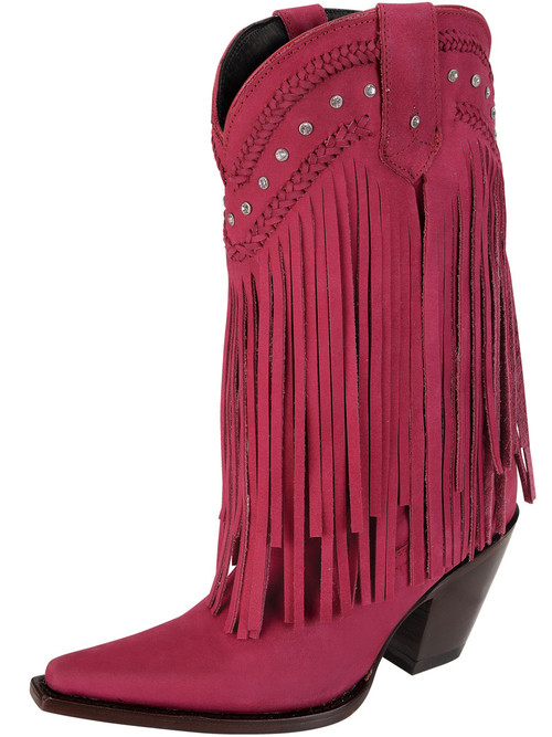Fringes and Rhinestones Red Western Fashion Cowboy Boots
