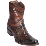 Men's Los Altos Ostrich European Square Toe Boots Handcrafted 76B0316
