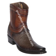 Men's Los Altos Smooth Ostrich European Square Toe Boots Handcrafted 76B9716