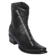 Men's Los Altos Smooth Ostrich European Square Toe Boots Handcrafted 76B9705