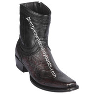 Men's Los Altos Smooth Ostrich European Square Toe Boots Handcrafted 76B9718