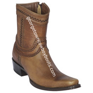 Men's Los Altos European Square Toe Leather Boots Handcrafted 76B9951