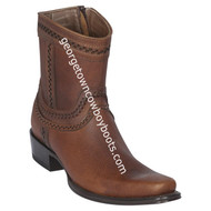 Men's Los Altos European Square Toe Leather Boots Handcrafted 76B9940