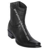 Men's Los Altos European Square Toe Leather Boots Handcrafted 76B2705