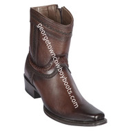 Men's Los Altos European Square Toe Leather Boots Handcrafted 76B2716