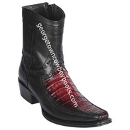 Men's Los Altos Caiman Belly And Deer Boots European Square Toe Handcrafted 76BF8243
