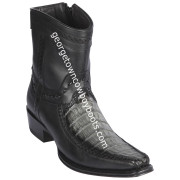 Men's Los Altos Caiman Belly And Deer Boots European Square Toe Handcrafted 76BF8238