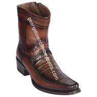 Men's Los Altos Caiman Belly And Deer Boots European Square Toe Handcrafted 76BF8216