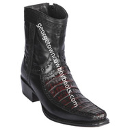 Men's Los Altos Caiman Belly And Deer Boots European Square Toe Handcrafted 76BF8218